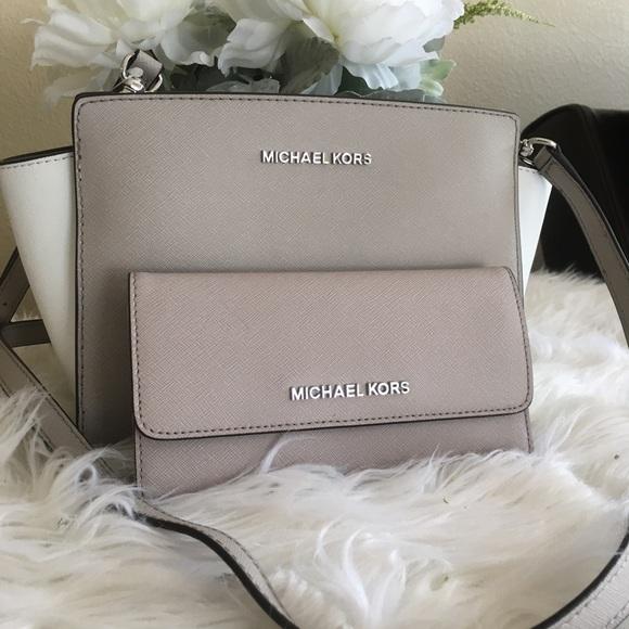 Michael Kors Handbags - Last set✨Michael Kors Selma messager bag & wallet